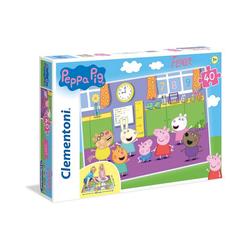 Clementoni® Puzzle Puzzle 40 Teile, Bodenpuzzle - Peppa Pig, Puzzleteile