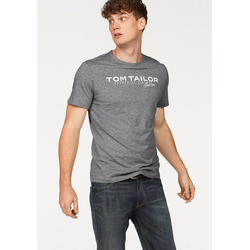 TOM TAILOR T-Shirt mit Logoprint grau
