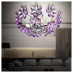 etc-shop Deckenleuchte, Deckenlicht Beleuchtung Deckenlampe Chrom Licht Deckenleuchte Lampe 5142+LED