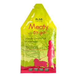 alsa-nature Meaty to go, 12 x 85 g, Hundefutter