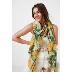 Next Modeschal Leichter Crinkle-Schal mit Zitronen-Print