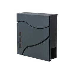 MCW Briefkasten MCW-B31, Zylinderschloss, Inkl. 2 Schlüsseln und Montagematerial schwarz