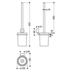 WC-Garnitur System 815, zur Wandmontage