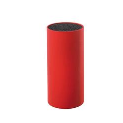 ZASSENHAUS Messerblock rund Rot mit flexiblem Borsteneinsatz