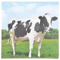Linoows Papierserviette 20 Servietten mit Kuh, Kühe auf dem Bauernhof, Motiv Kuh, Kühe auf dem Bauernhof