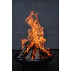 Feuerschale Ø600 mm Feuerkorb Pflanzschale Klöpperboden | Stahl