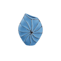 Vase ¦ blau ¦ Polyresin (Kunstharz)