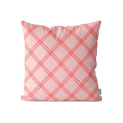 Kissenbezug, VOID (1 Stück), Rosa Karos Kissenbezug Tischdecke Tapete Pink Bayern Biergarten Garten Balkon 60 cm x 60 cm