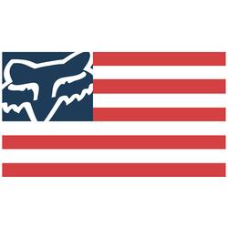 FOX Flag Sticker Wit Rood 15 cm