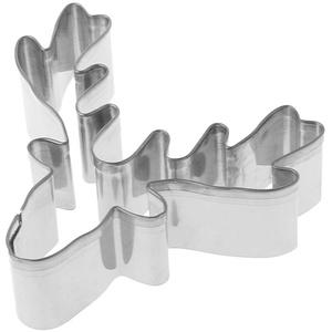 Celan Ausstechform / Keksausstechform aus Edelstahl mit Rentierkopf Weihnachten