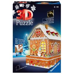 Lebkuchenhaus bei Nacht. Puzzle 216 Teile
