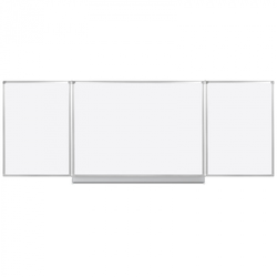 Whiteboard klapptafel, 120 x 360 cm