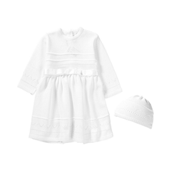 HOBEA-Germany Taufkleid Baby Set aus Taufkleid +Mütze LENA 86