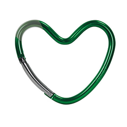 Kinderwagenhaken Taschen / herzförmig / Grün / glänzend grün  Kinder