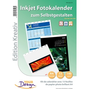 Fotokalender-Set A4 hoch (140g/m²)