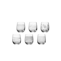 LEONARDO Gläser-Set CASELLA Trinkglas 300ml sortiert 6er Set (6-tlg), Glas