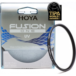 Hoya Fusion One UV Filter (77mm, UV-Filter), Objektivfilter, Schwarz, Transparent