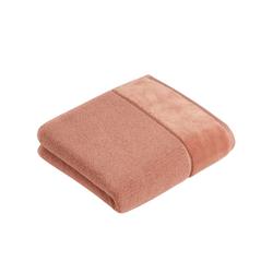 Vossen Handtuch Pure in red wood, 50 x 100 cm