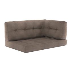 Vicco Palettenkissen Palettenkissen-Set Sitzkissen Rückenkissen Seitenkissen 15 cm hoch Palettenmöbel taupe