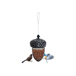 COSTWAY Futterstation Futterspender Vogelfutterspender Futterhaus Hänger, Eichel Ahorn-Form Vogelfutterstation mit Edelstahldraht