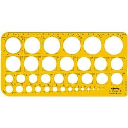 Kreisschablone Kreise 1-36mm gelb