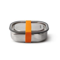 BLACK+BLUM Lunchbox Edelstahl mit Gabel klein 17,5 x 13 x 5 cm orange