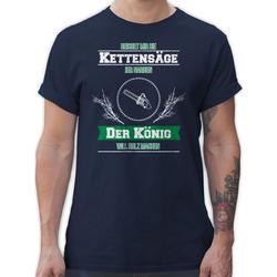 Shirtracer T-Shirt Reichet mir die Kettensäge - Sprüche Statement mit Spruch - Herren Premium T-Shirt Spruchshirt mit Sprüchen L