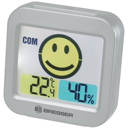 BRESSER Thermo- und Hygrometer Temeo Smile mit Raumklimaindikator grau
