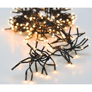 LED Weihnachtsbaum Lichterkette warmweiß - Länge 11 m / 1512 LED - Büschel Lichterkette mit Speicherchip und 8 Funktionen - für den Innen- und Außenbereich