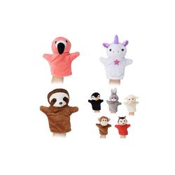 relaxdays Handpuppe Handpuppen Tier-Set für Kinder