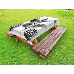 Abakuhaus Tischdecke dekorative waschbare Picknick-Tischdecke, Botanisch Stechapfel Pflanze Skizze 145 cm x 210 cm