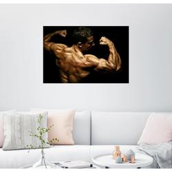 Posterlounge Wandbild, Bodybuilder in Pose 150 cm x 100 cm
