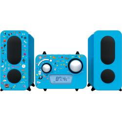 BigBen Stereo Music Center MCD11 für Kinder, pink Stereoanlage blau