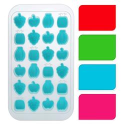 Kalte Früchtchen - Eiswürfelform mit Obst-Motiven - Silikon Form - 24 Eiswürfel