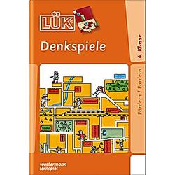 LÜK: Denkspiele 4. Klasse - Buch