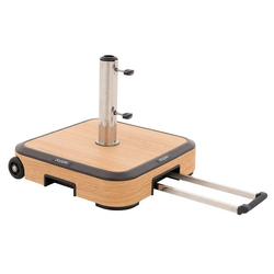 Doppler Wood Schirmsockel 50kg Alu-Beton/Trolley m.Griff Natur