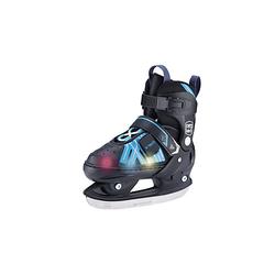Kinder Schlittschuh LED verstellbar Thunder Schlittschuhe schwarz/blau Gr. 37-40