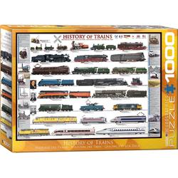 empireposter Puzzle Entwicklung der Eisenbahn - 1000 Teile Puzzle im Format 68x48 cm, 1000 Puzzleteile