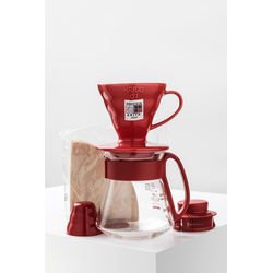 Hario Dripper & Pot (Red)