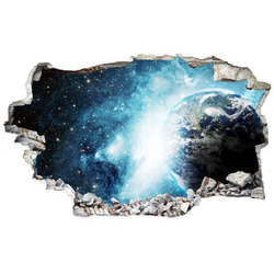 Wall-Art Wandtattoo Weltraum Sticker 3D Galaxie (1 Stück)