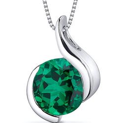 Smaragd-Halsketter aus Silber Tejomay