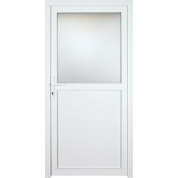 KM Zaun Nebeneingangstür K602P, BxH: 98x198 cm, weiß, links