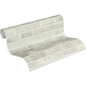 Thomas Vliestapete in Backstein Optik Tapete Industrial Loft Style 10,05 m x 0,53 m grau hellgrau Made in Germany TLT023