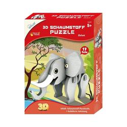 MAMMUT Spiel und Geschenk 3D-Puzzle 3D Schaumstoff Puzzle Elefant, Puzzleteile