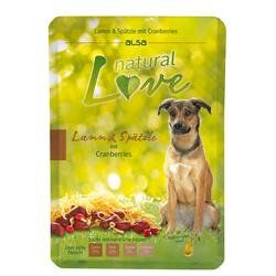 alsa natural Love Lamm & Spätzle mit Cranberries, 12 x 300 g, Hundefutter