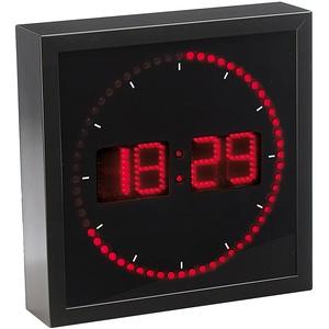 LED-Wanduhr mit Sekunden-Lauflicht durch rote LEDs