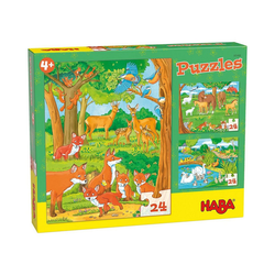 Haba Puzzle HABA 305468 Puzzles Tierfamilien, Puzzleteile