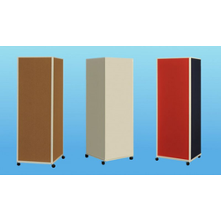 Carto Litfass-Säule mobil Textil grau B 62 x H 187 cm mit Rollen LF1806-K99