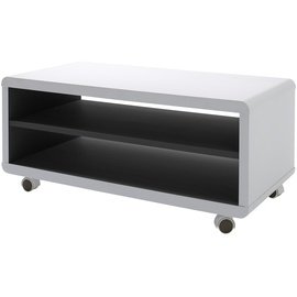 MCA Furniture Jeffrey Lowboard 790 mm weiß/schwarz