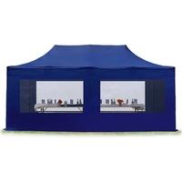 TOOLPORT Faltpavillon 3 x 6 m inkl. Seitenteile blau (582601)